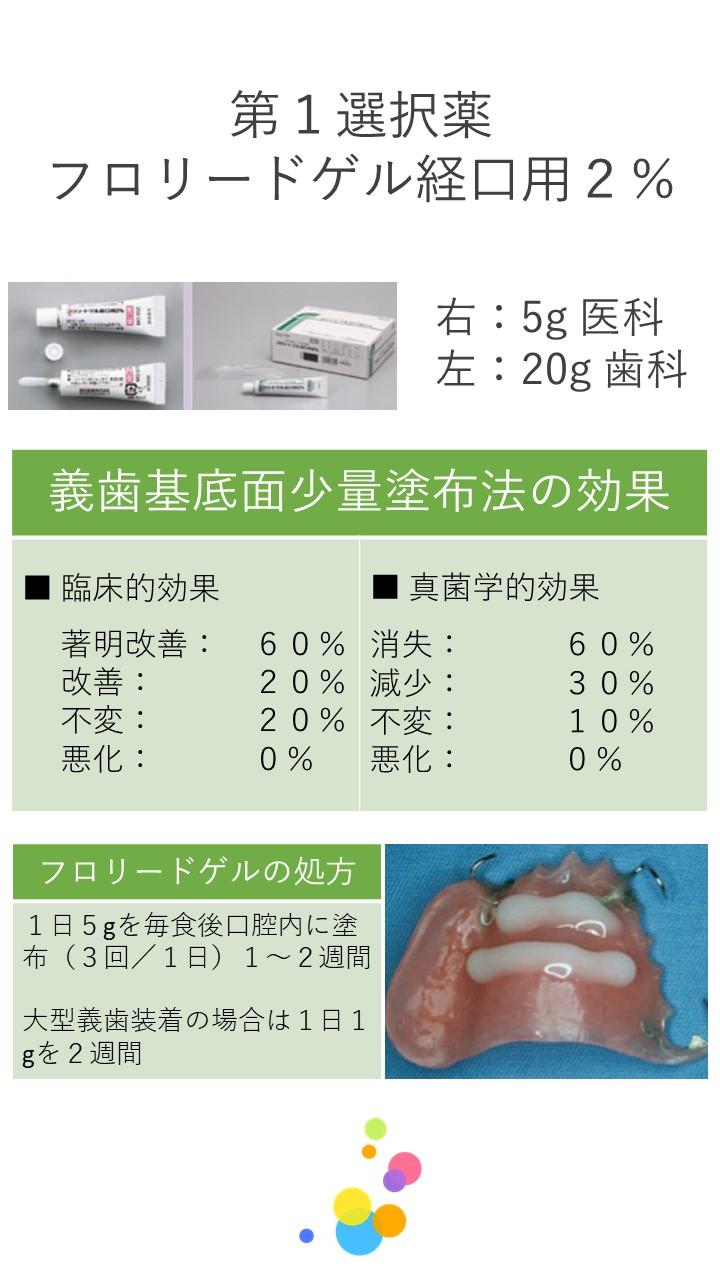 13 口腔カンジダ症 第1選択薬